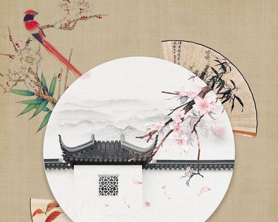 传统中国风绘画PSD素材