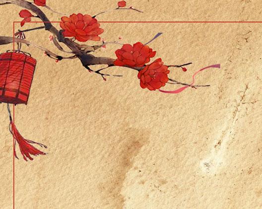 古韵中国风画PSD素材