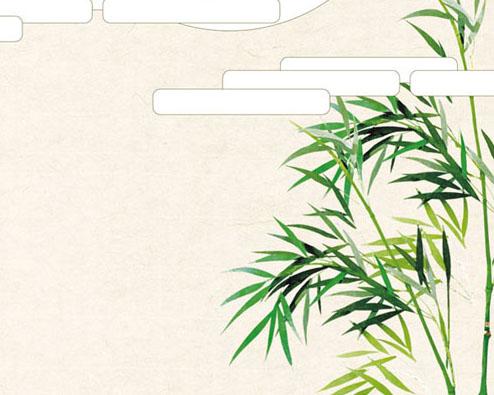 竹子绘画PSD素材