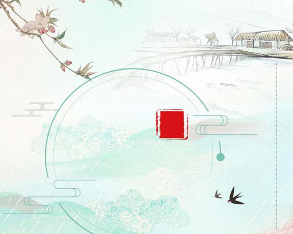 中国风水墨绘画PSD素材