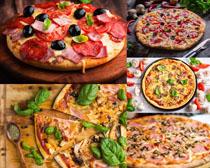 火腿肉披萨摄影高清图片