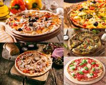面包与披萨摄影高清图片