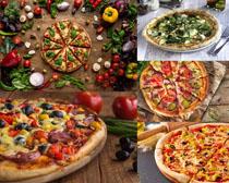 蔬菜与披萨摄影高清图片