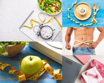 生活减肥尺子摄影高清图片