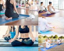 瑜伽国外人物摄影高清图片