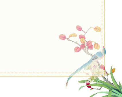 封面花朵画PSD素材