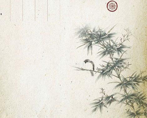 竹子与燕子PSD素材