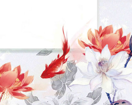 金鱼花朵PSD素材