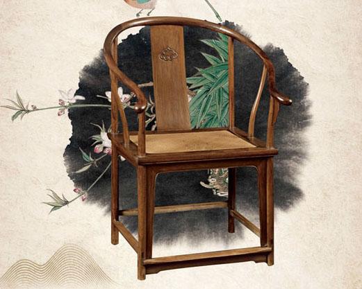 椅子与荷花PSD素材