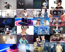观看3D眼镜的人物摄影高清图片