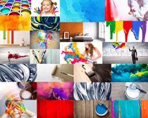 油漆色彩人物摄影高清图片