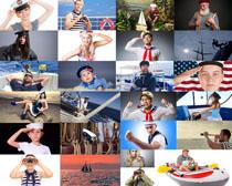 航海工作人员摄影高清图片