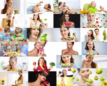 营养水果与人物摄影高清图片