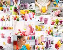 纯果汁饮料摄影高清图片