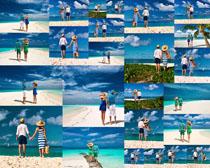 海滩情侣摄影高清图片
