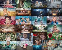 可爱表情小孩摄影高清图片
