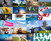 自然风与人物摄影高清图片