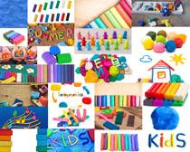 橡皮玩具色彩摄影高清图片
