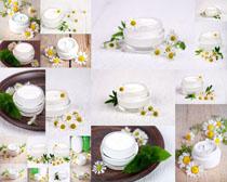 面霜与花朵摄影高清图片
