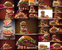 食物汉堡包与可乐摄影高清图片