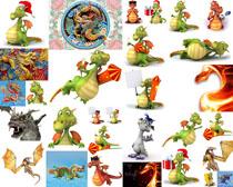 卡通可爱恐龙拍摄高清图片