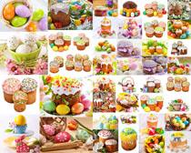 蛋糕与彩蛋摄影高清图片