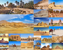 沙漠风景与建筑摄影高清图片