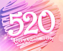 爱在520海报PSD素材