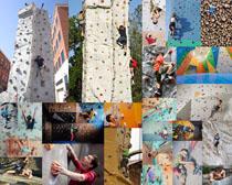 攀岩运动人物摄影高清图片
