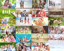 快乐家庭人物拍摄高清图片