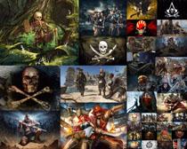 漫画海盗人物摄影高清图片
