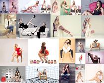 欧美时装女模特摄影高清图片