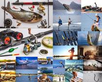 钓鱼鱼具摄影高清图片