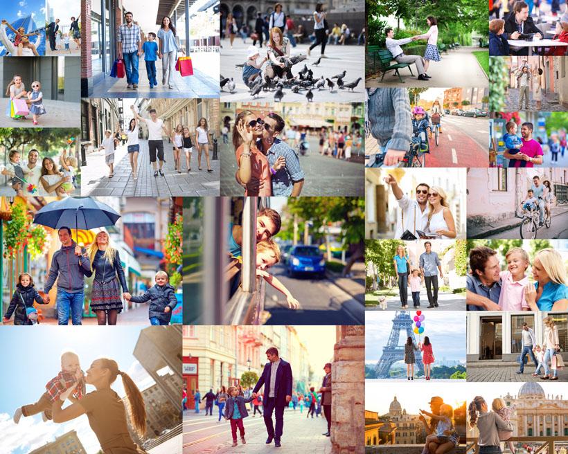 生活中幸福一家人摄影高清图片