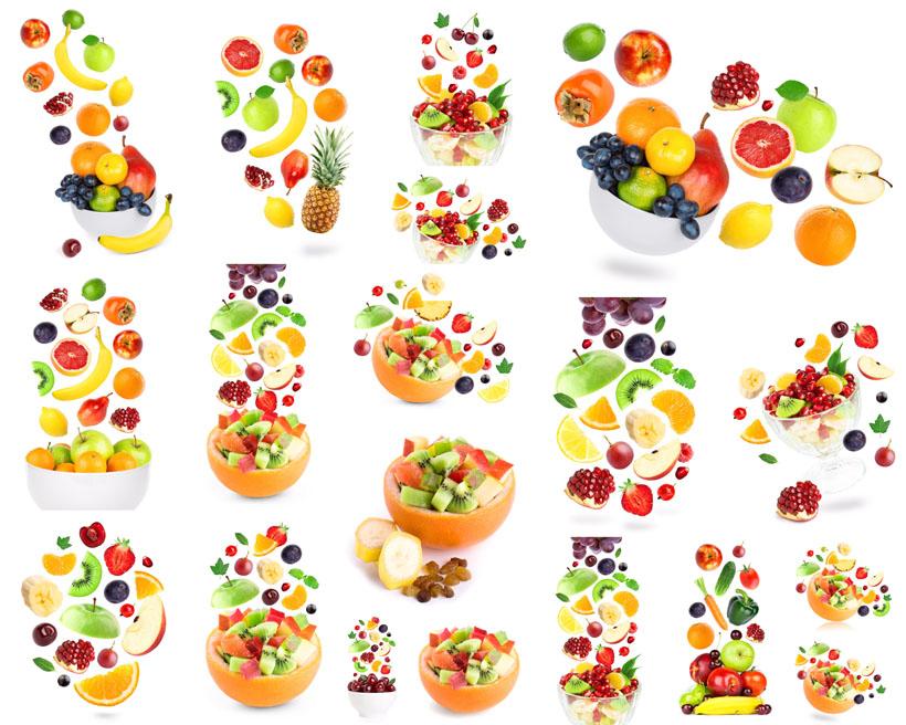 水果切片组合摄影高清图片
