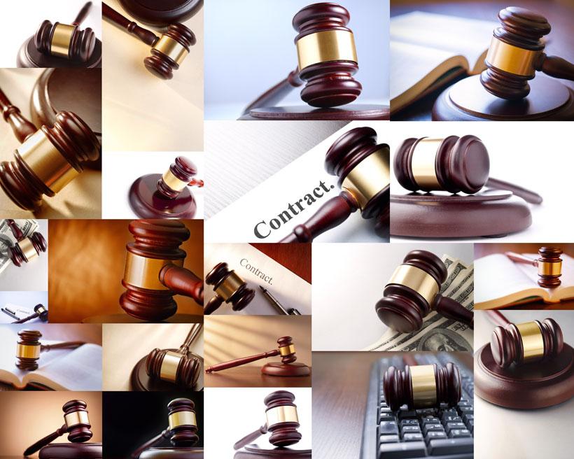 法庭锤摄影高清图片