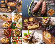 油炸烧烤食物摄影高清图片