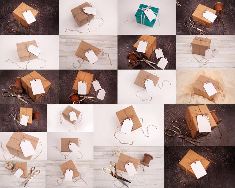 节日礼物包装拍摄高清图片