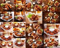鸡翅调料食物摄影高清图片