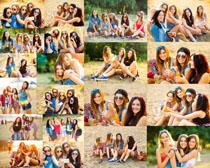 快乐的欧美女孩摄影高清图片