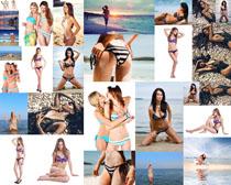 比基尼沙滩性感美女摄影高清图片