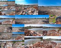 废区拉圾摄影高清图片