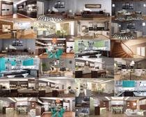 复式楼房家庭装修风格摄影高清图片