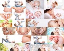 孕妇与baby摄影高清图片