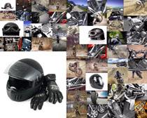 摩托车与装备摄影高清图片