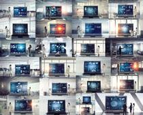 科技屏与商务人士摄影高清图片
