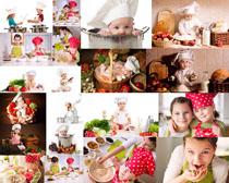 厨房可爱儿童摄影高清图片