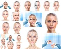 脸部肌肤护理摄影高清图片
