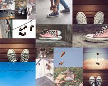 运动板鞋摄影高清图片