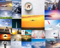 航空飞机与人物摄影高清图片